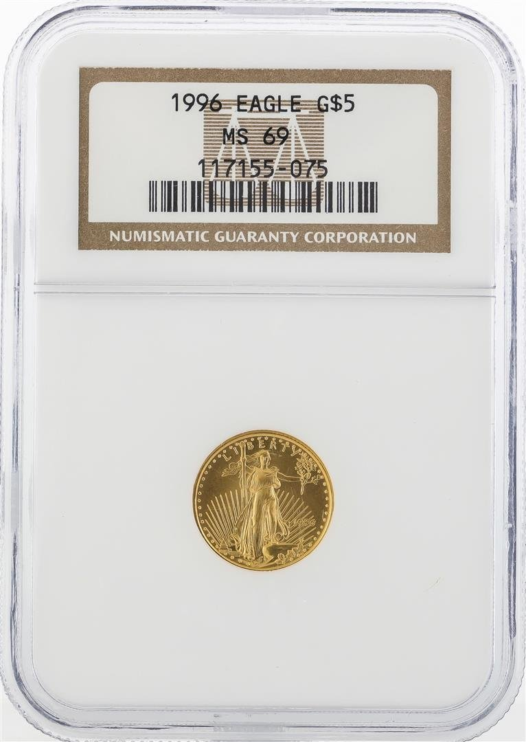 1996 $5 American Gold Eagle Coin NGC MS69