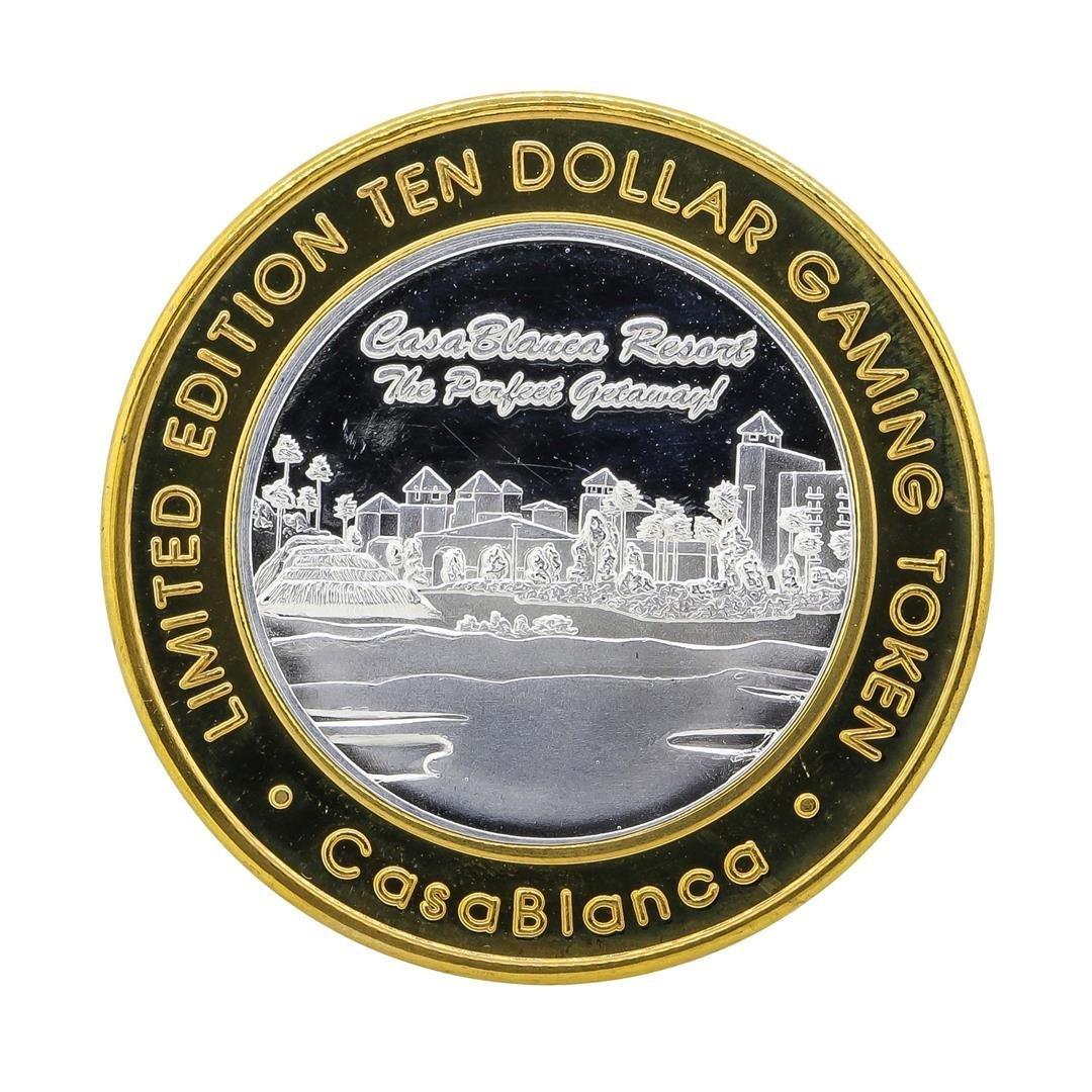 .999 Silver Casa Blanca Resort $10 Casino Gaming Token - 2