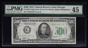 1934 $500 Federal Reserve Note PMG Choice XF45