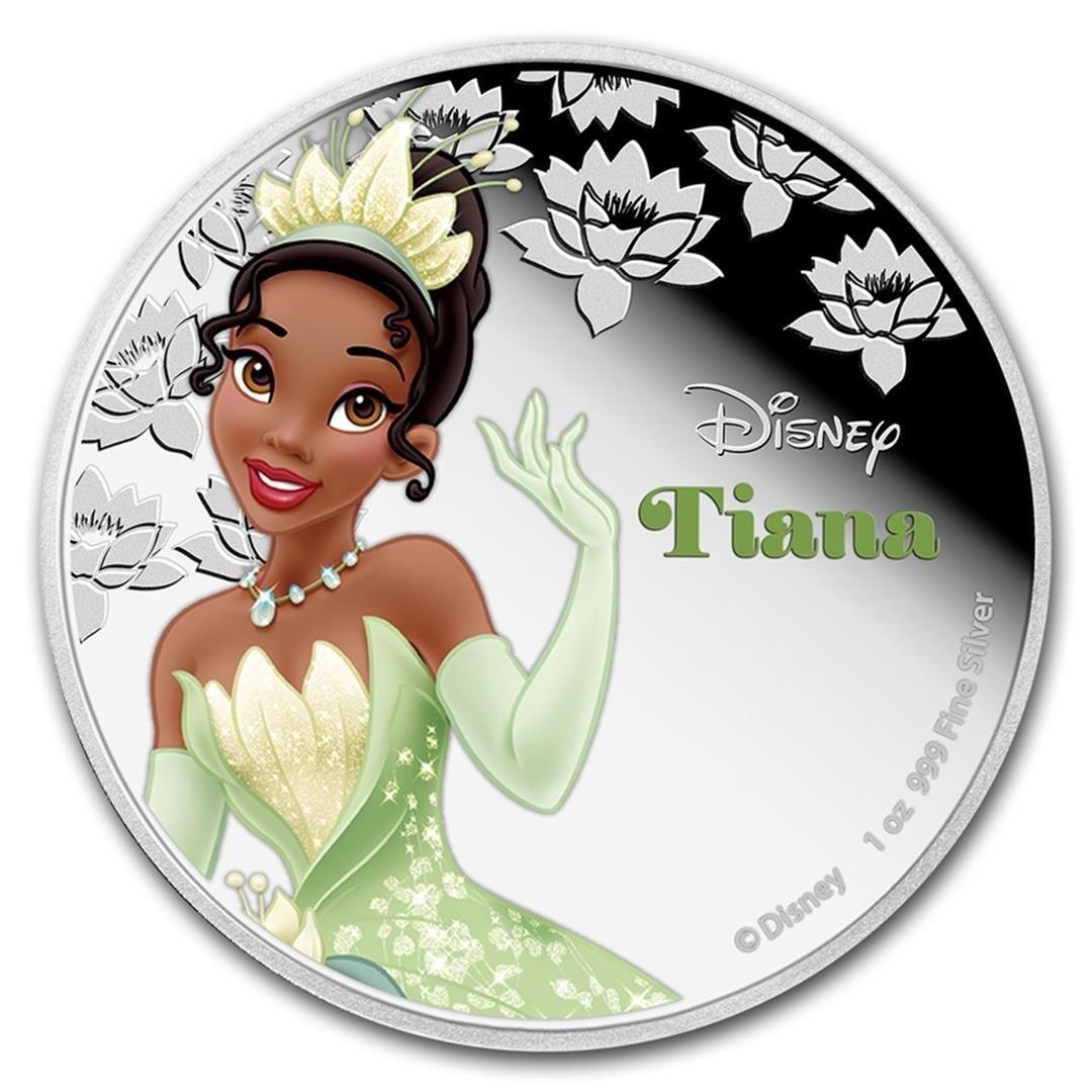 2016 $2 Disney Princess Tiana .999 Fine Silver Proof