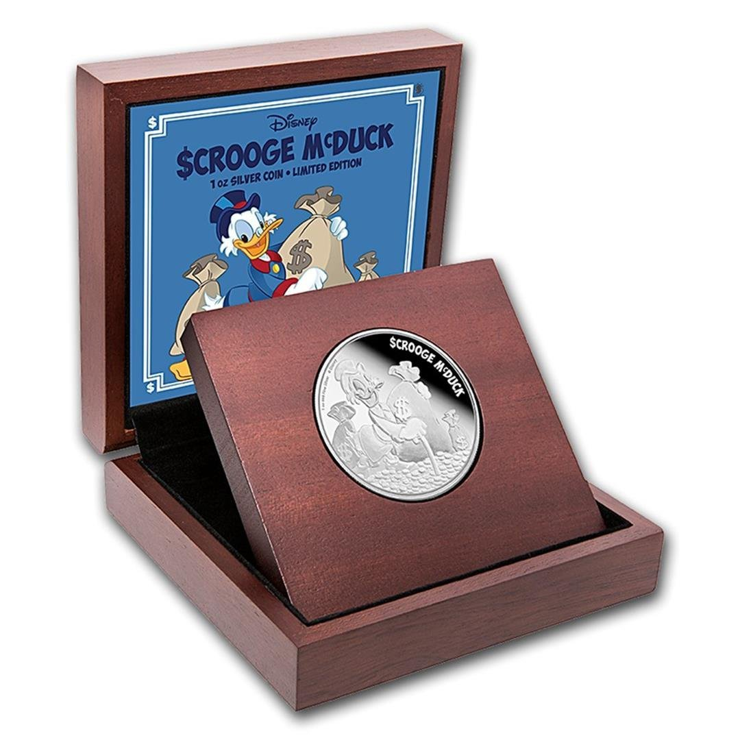 2016 $2 Disney Scroogew McDuck .999 Fine Silver Proof - 2
