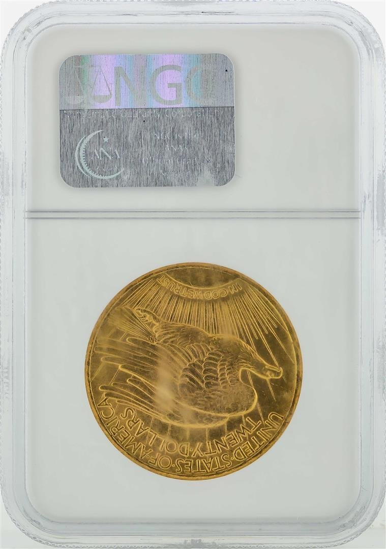 1927 $20 St. Gaudens Double Eagle Gold Coin NGC MS64 - 2