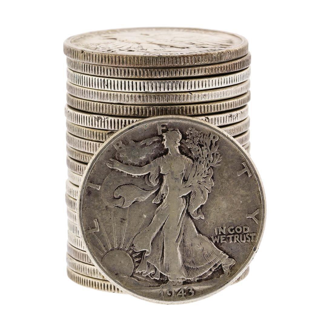 Set of (20) Half Dollar Silver Coins