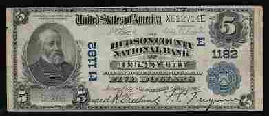 1902 5 The Hudson National Bank of Jersey City NJ