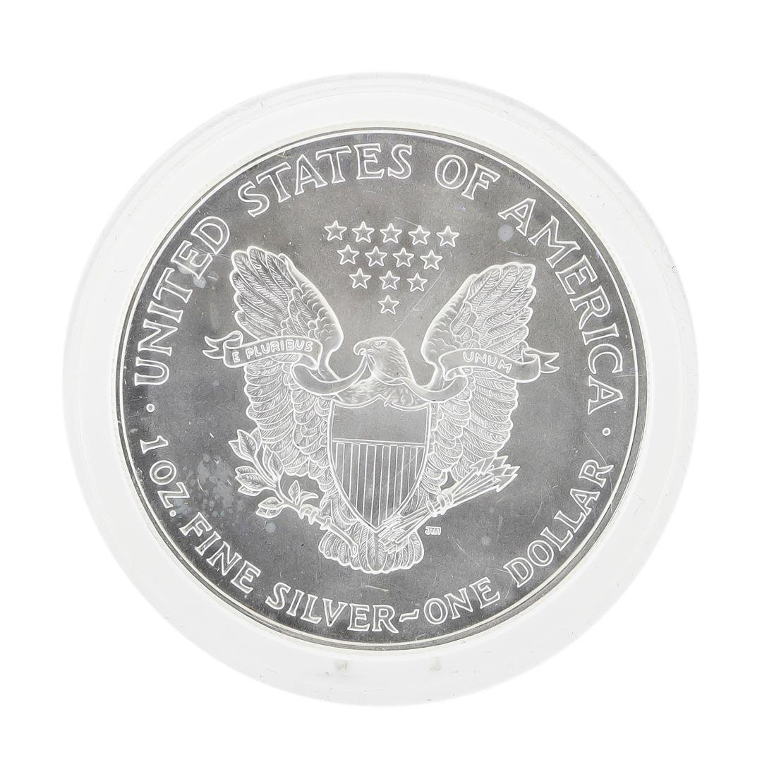 2000 $1 American Silver Eagle Coin with Color Enamel - 2