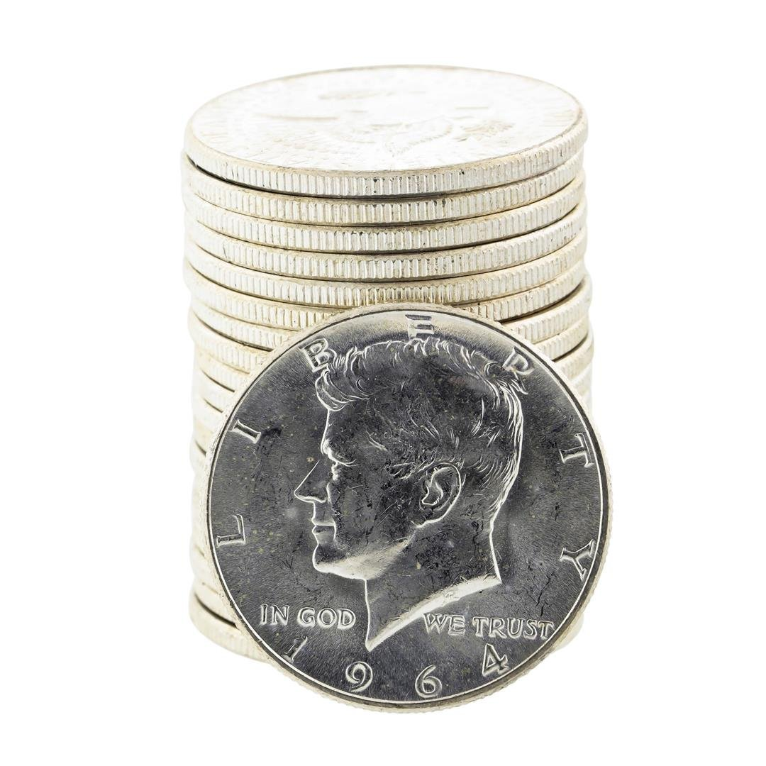 Roll of (20) Uncirculated 1964-P Kennedy Half Dollar