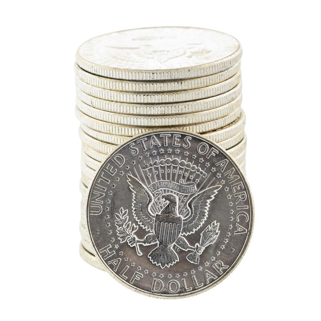 Roll of (20) Uncirculated 1964-P Kennedy Half Dollar - 2