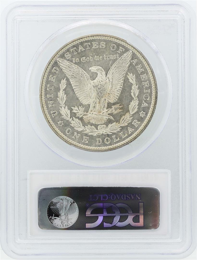 1898 $1 Morgan Silver Dollar Coin PCGS MS63 - 2