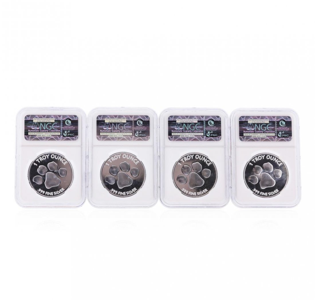 Set of (4) 2012 Lydian Mint .999 Silver 1 Troy Ounce - 2