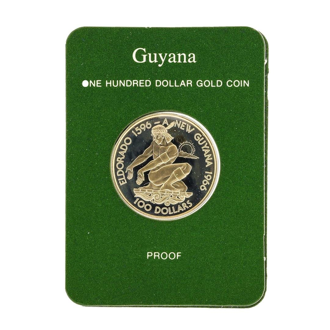 1976 $100 Republic of Guyana Gold Proof Coin