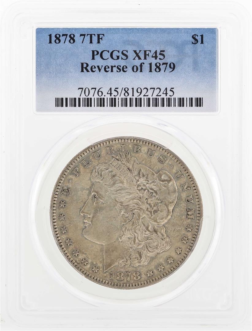1878 7TF $1 Morgan Silver Dollar Coin Reverse 1879 PCGS