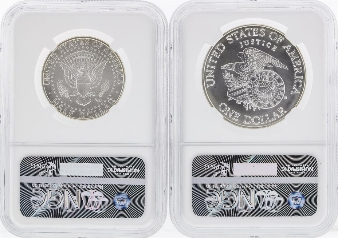 1998-S Kennedy Half Dollar NGC SP69 & 1998-S $1 Kennedy - 2