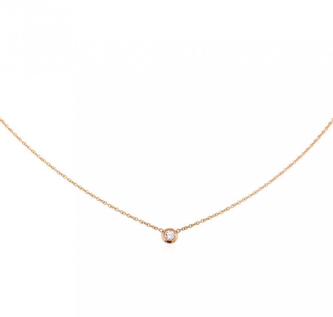 14KT Rose Gold .10ct Diamond Solitaire Necklace
