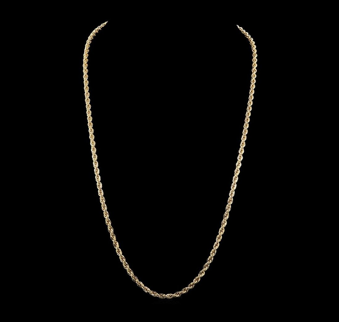 14KT Yellow Gold Rope Chain Necklace