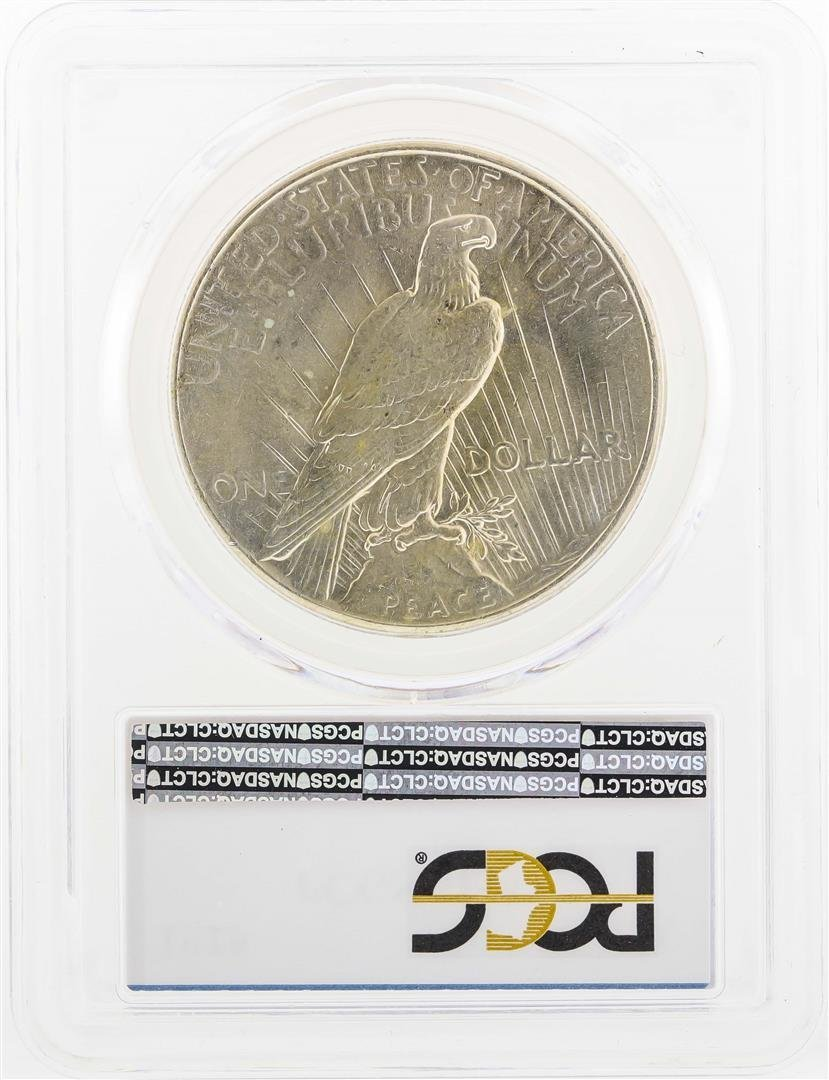 1925 $1 Peace Silver Dollar Coin PCGS MS63 - 2