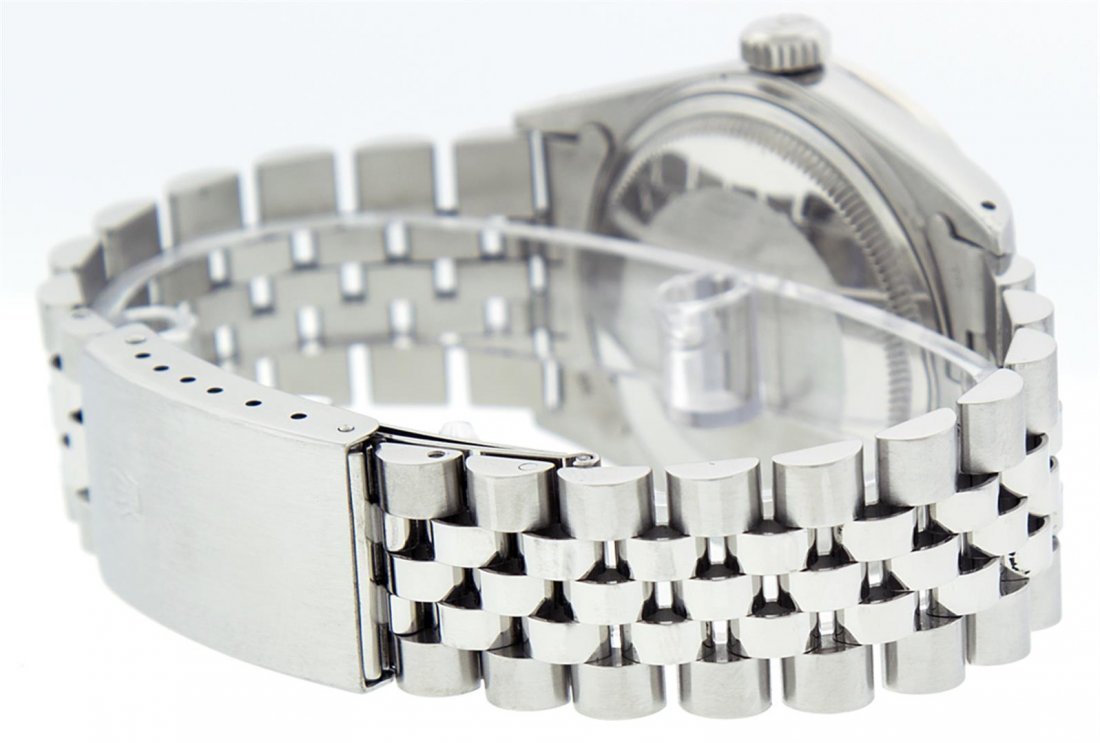 Rolex Mens Stainless Steel Sapphire and Diamond - 2