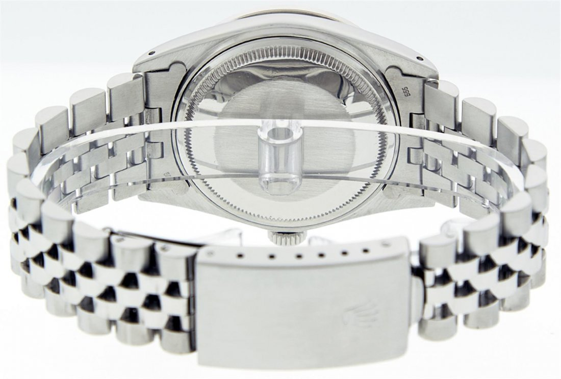 Rolex Mens Stainless Steel Sapphire and Diamond - 3