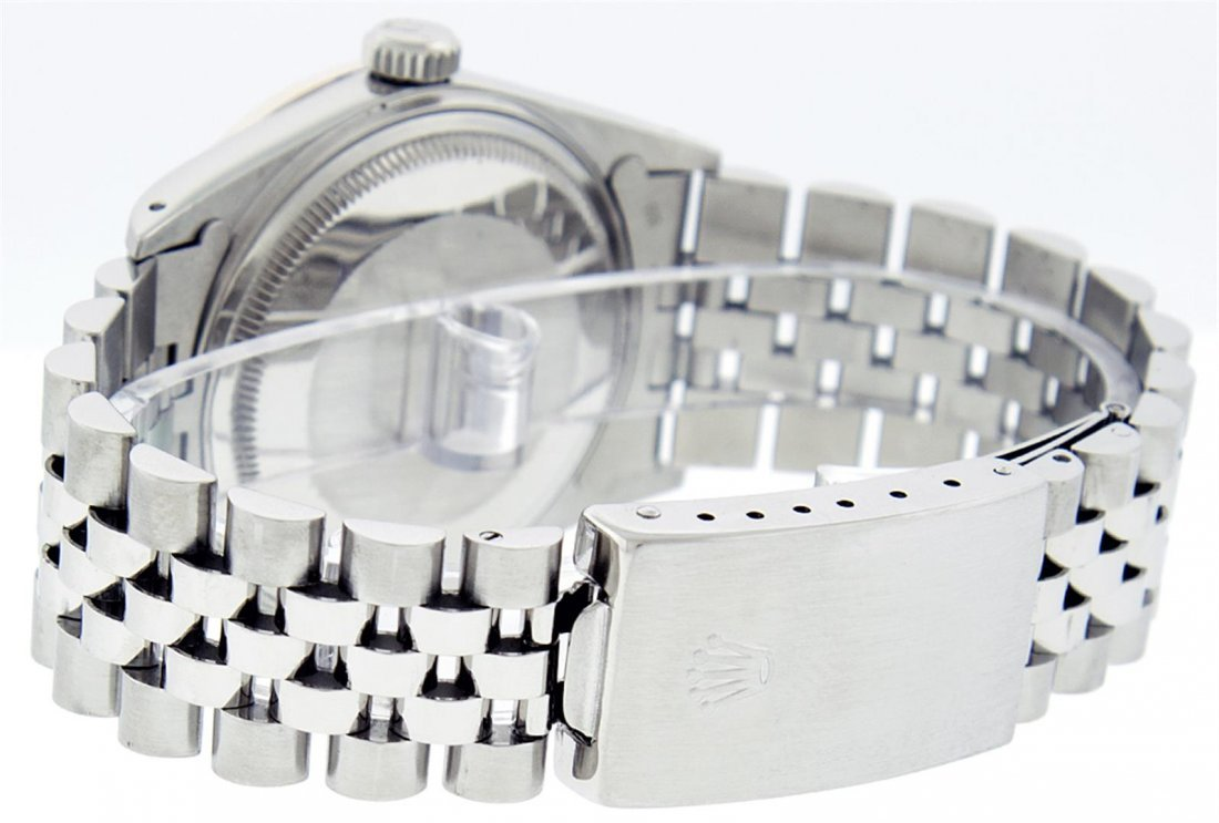 Rolex Mens Stainless Steel Sapphire and Diamond - 4