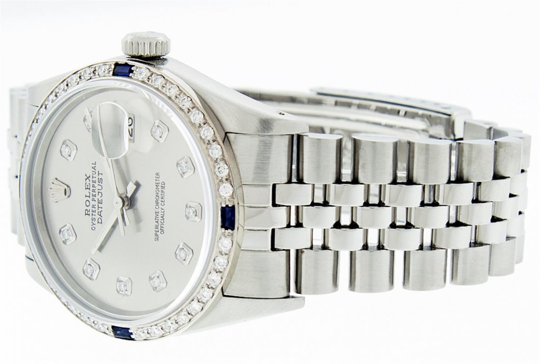 Rolex Mens Stainless Steel Sapphire and Diamond - 6
