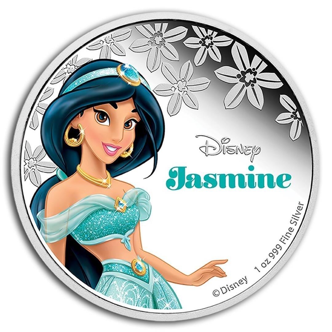 2015 $2 Disney Princess Jasmine .999 Fine Silver Proof