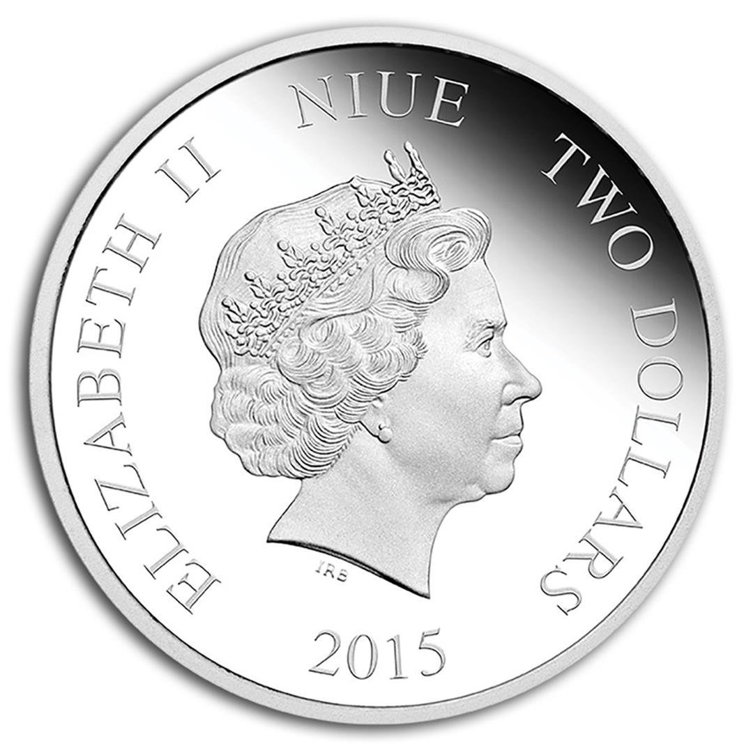 2015 $2 Disney Princess Jasmine .999 Fine Silver Proof - 2
