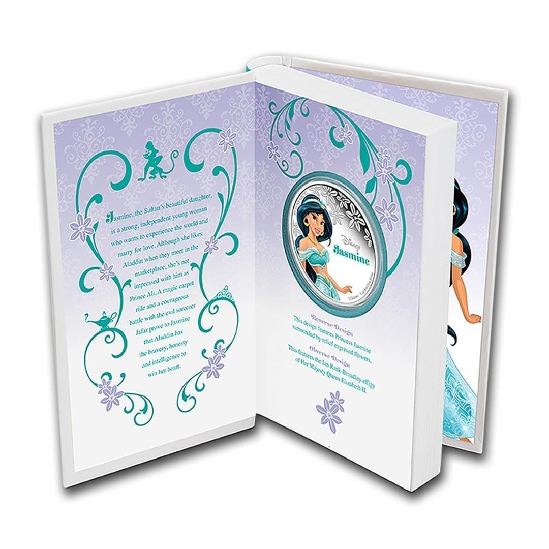 2015 $2 Disney Princess Jasmine .999 Fine Silver Proof - 3