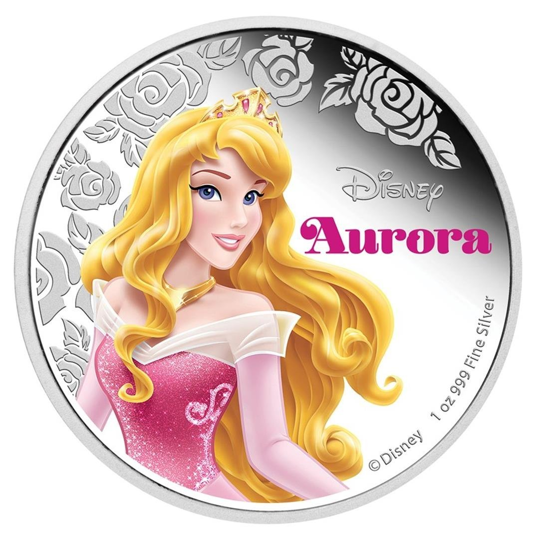 2015 $2 Disney Princess Aurora .999 Fine Silver Proof