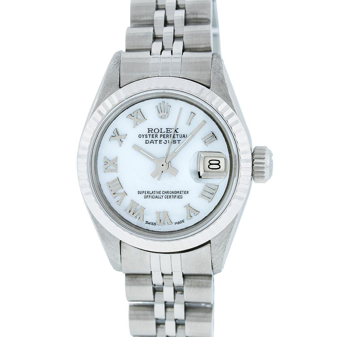 Rolex Ladies Stainless Steel Datejust Wristwatch