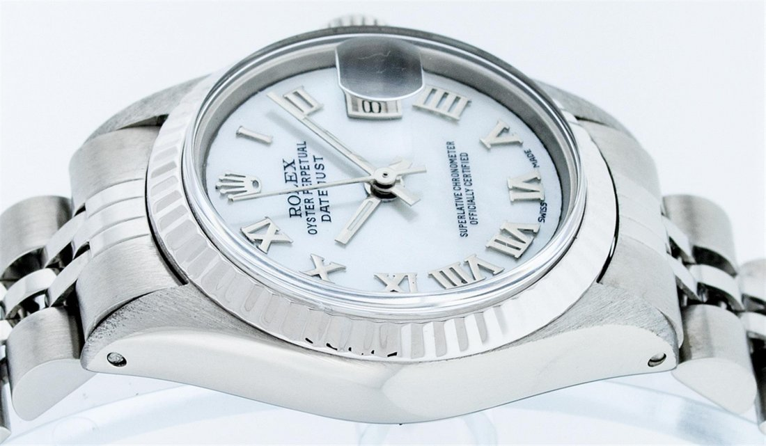 Rolex Ladies Stainless Steel Datejust Wristwatch - 7
