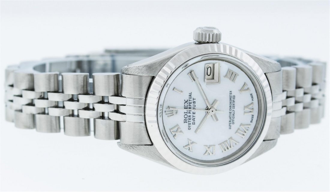 Rolex Ladies Stainless Steel Datejust Wristwatch - 8