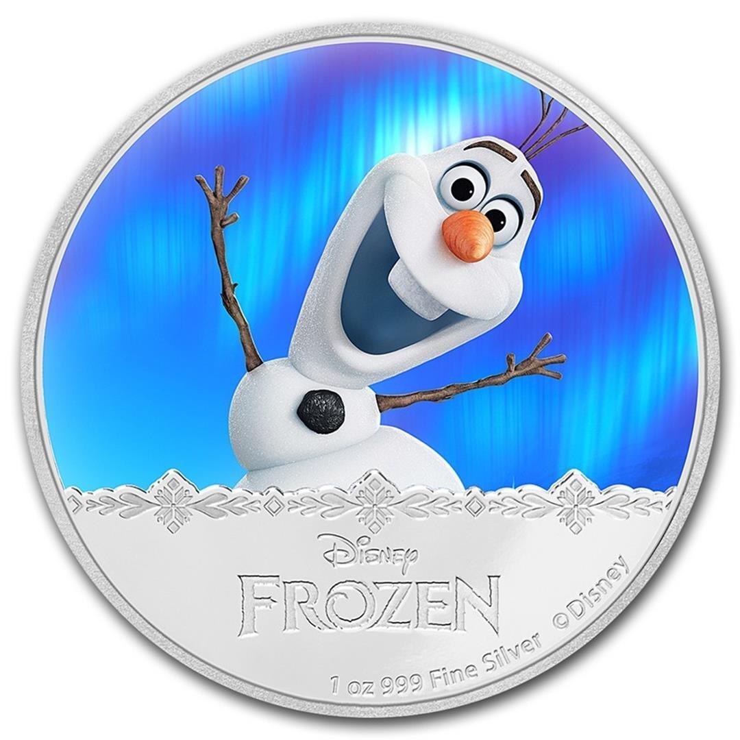 2016 $2 Disney Frozen Olaf .999 Fine Silver Proof Coin