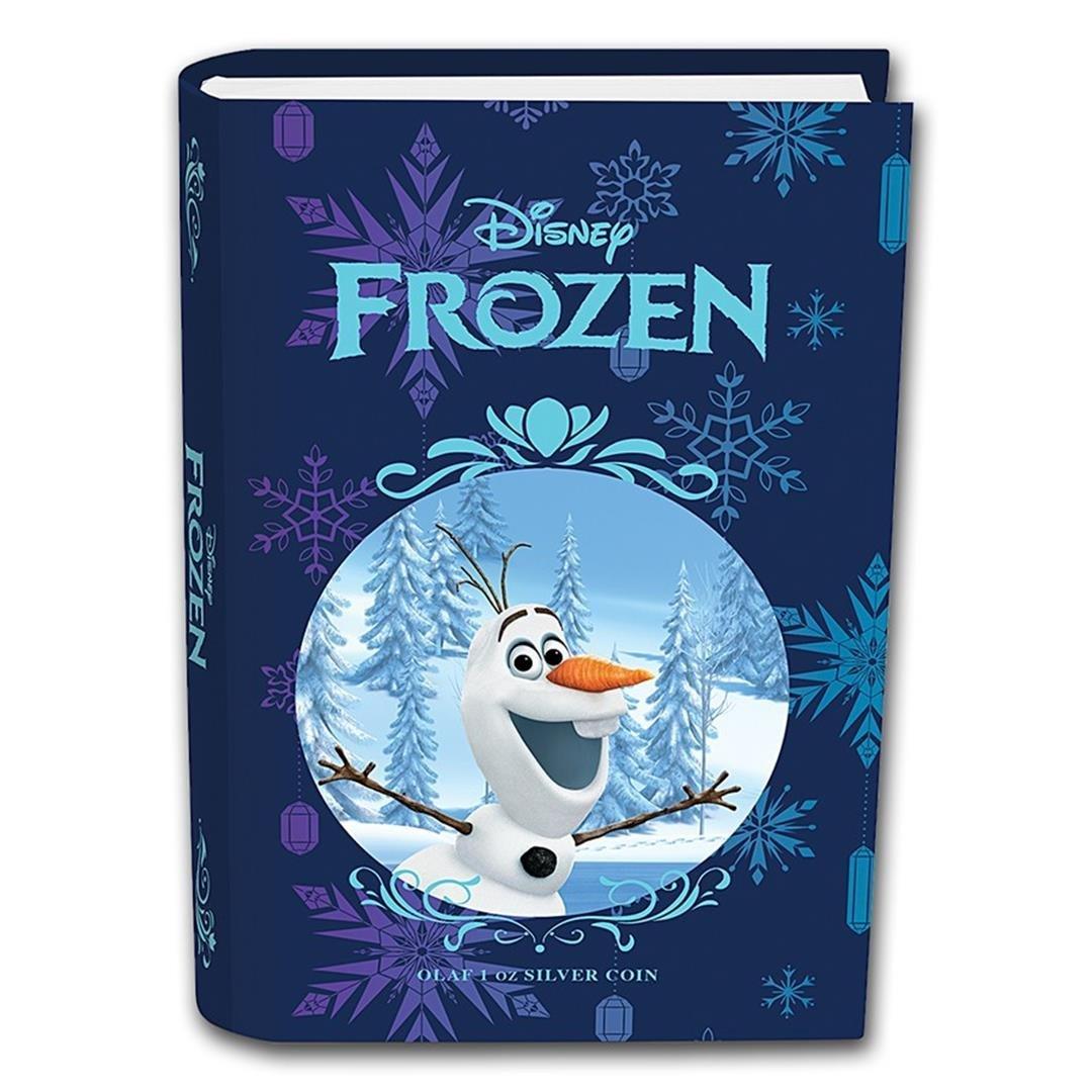2016 $2 Disney Frozen Olaf .999 Fine Silver Proof Coin - 4
