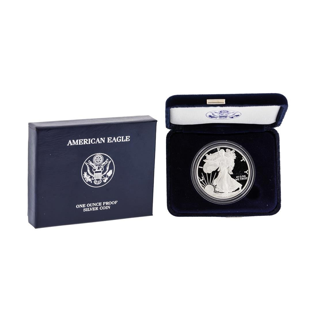 2007 1oz American Silver Eagle Proof Coin with Box