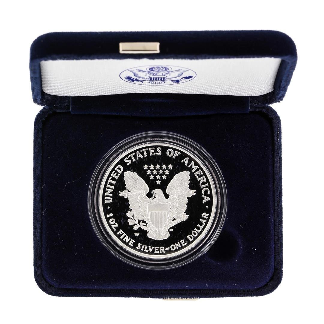 2007 1oz American Silver Eagle Proof Coin with Box - 2