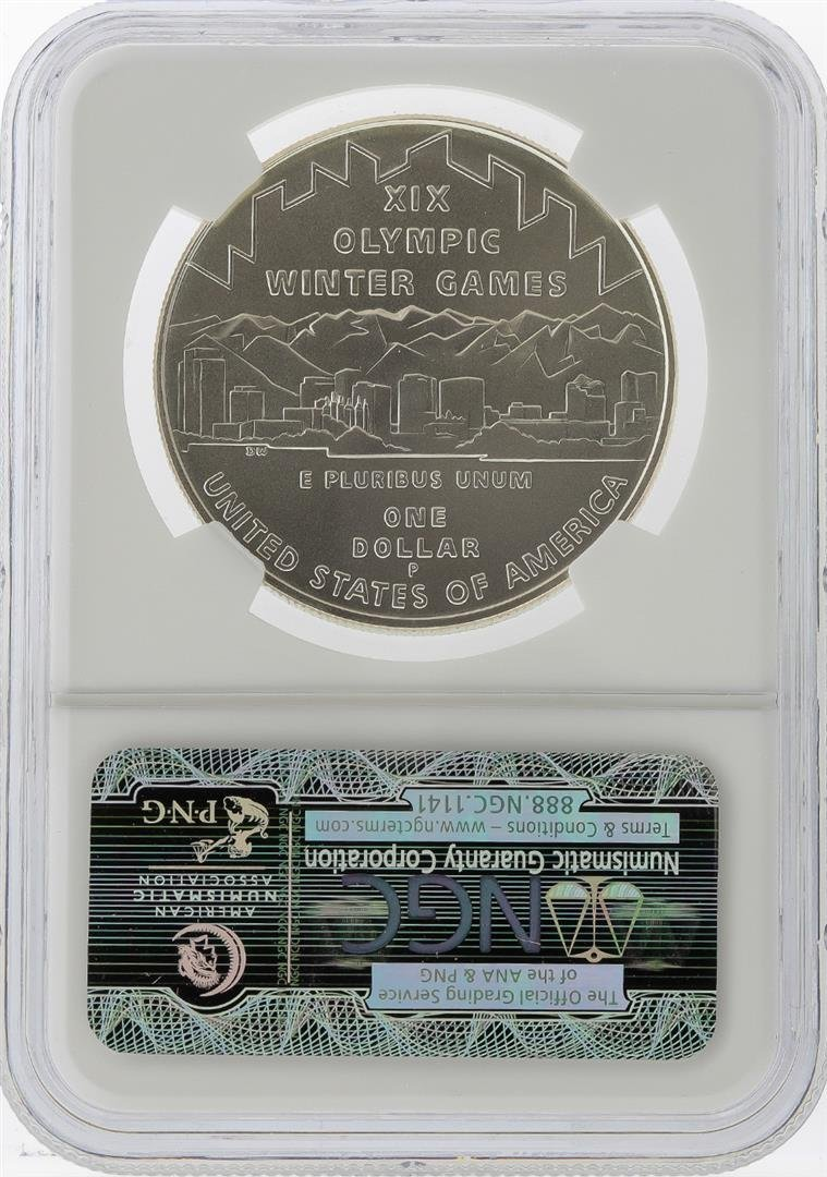 2002-P $1 Salt Lake Olympics Silver Coin NGC MS70 - 2