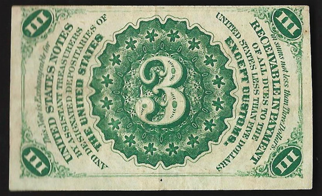 March 3, 1863 3 Cent 3rd Issue Fractional Note - 2