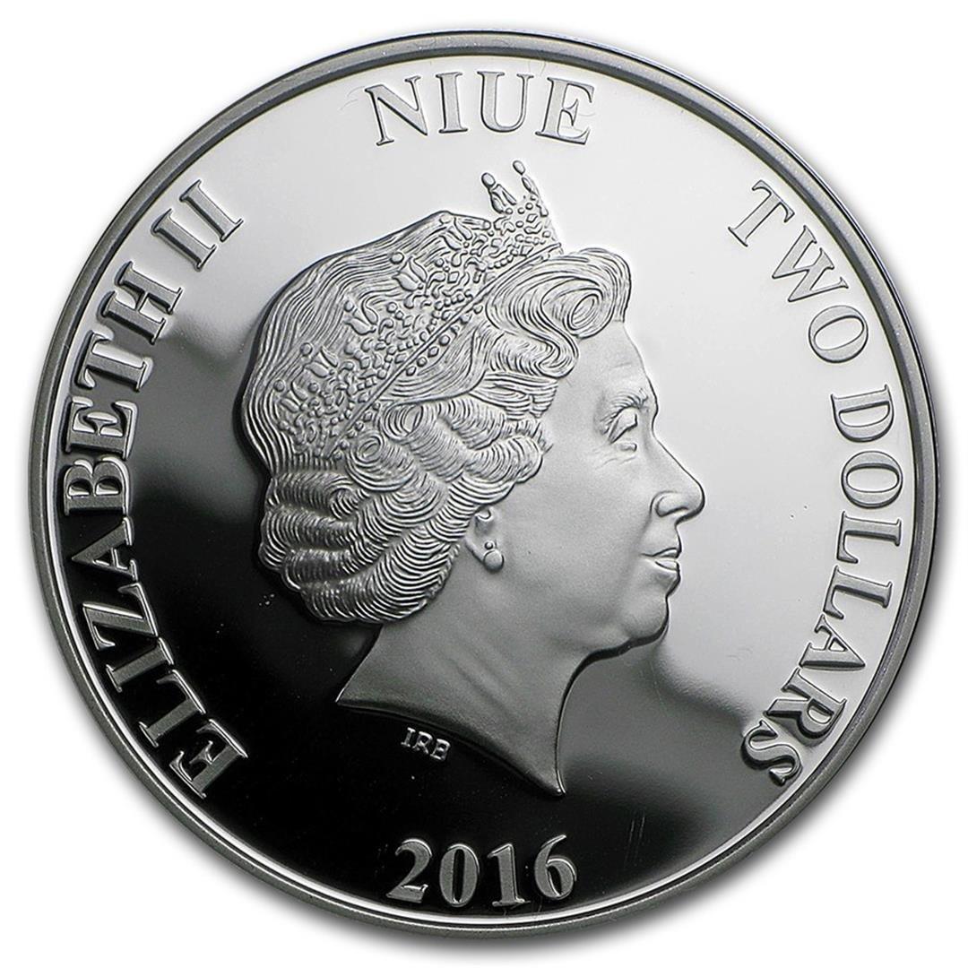 2016 $2 Disney Princess Pocahontas .999 Fine Silver - 2