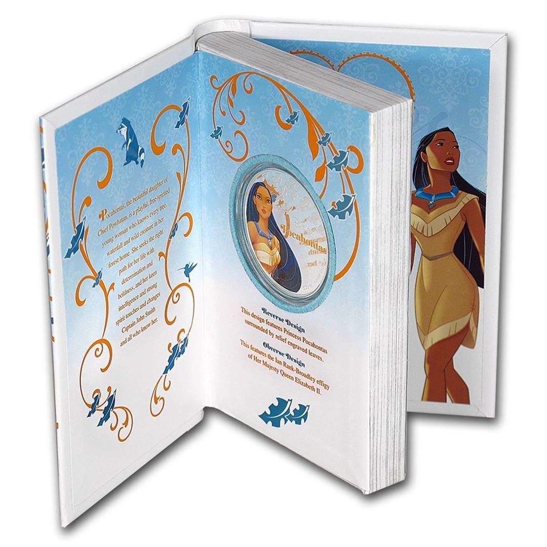 2016 $2 Disney Princess Pocahontas .999 Fine Silver - 3