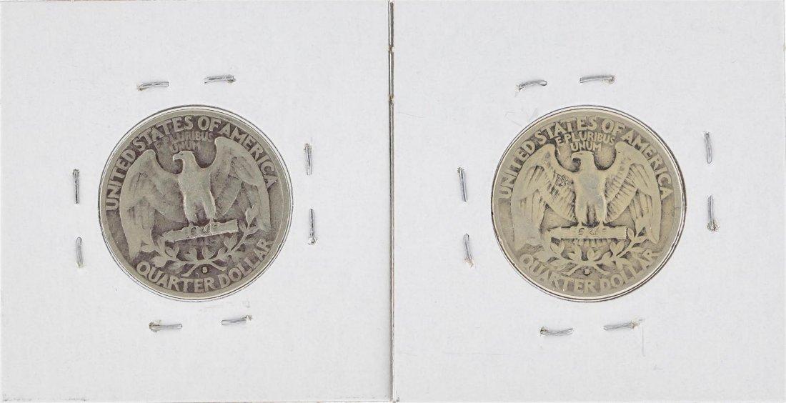 1932-S & 1932-D Washington Silver Quarter Coins - 2