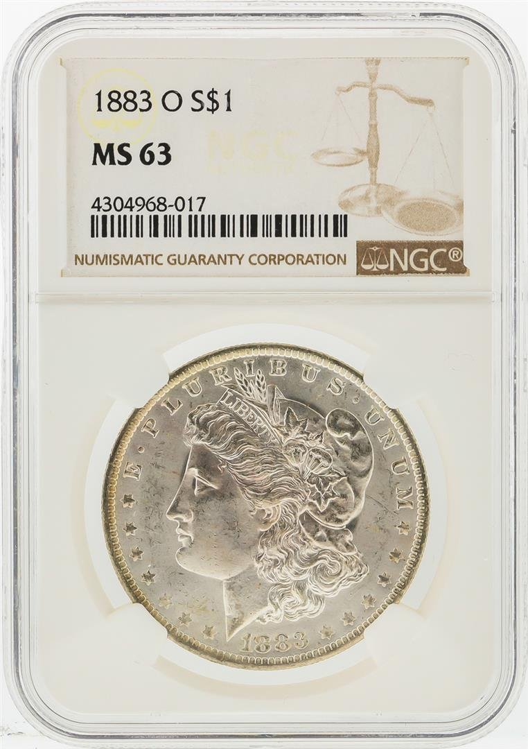 1883-O $1 Morgan Silver Dollar NGC Graded MS63