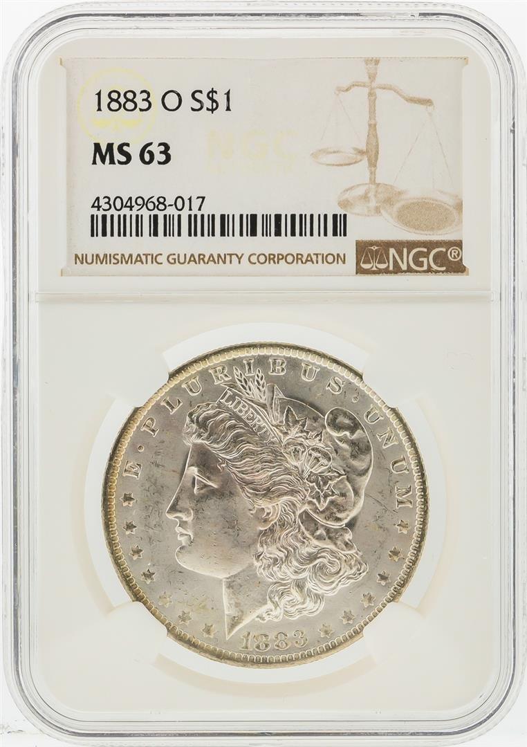 1883-O $1 Morgan Silver Dollar NGC Graded MS63