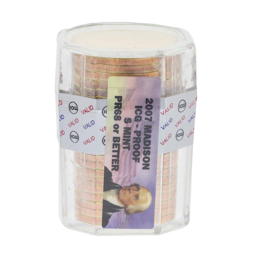 Roll of (25) 2007 James Madison Presidential Dollars