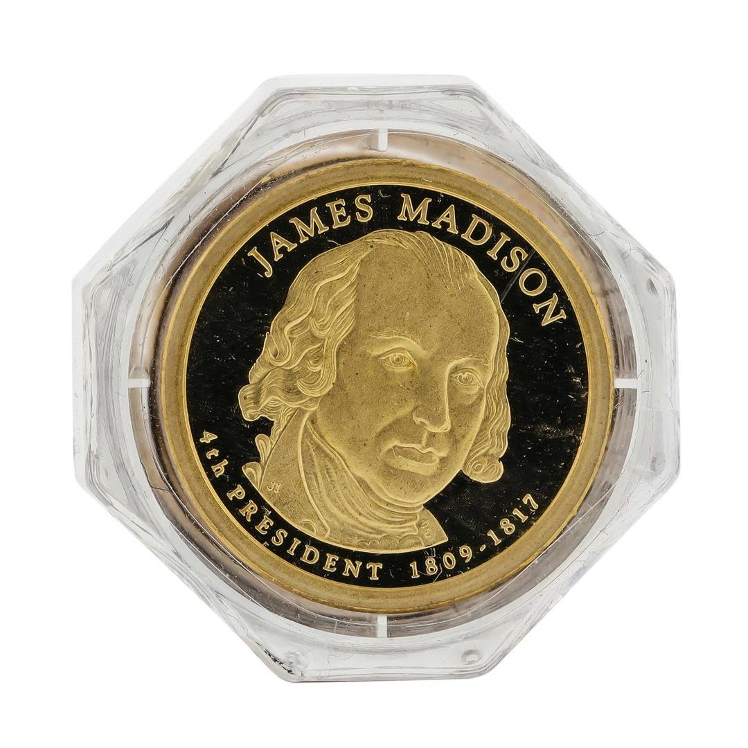 Roll of (25) 2007 James Madison Presidential Dollars - 2