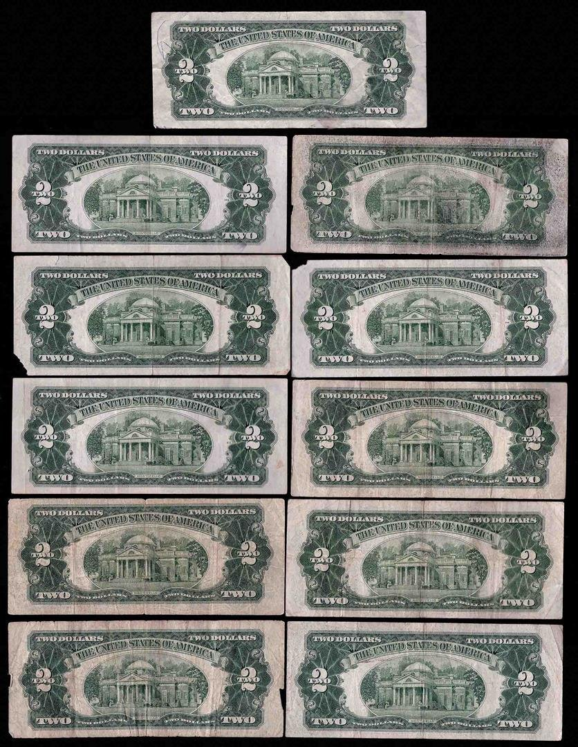 Lot of (11) Assorted 1953 $2 Legal Tender Notes - 2