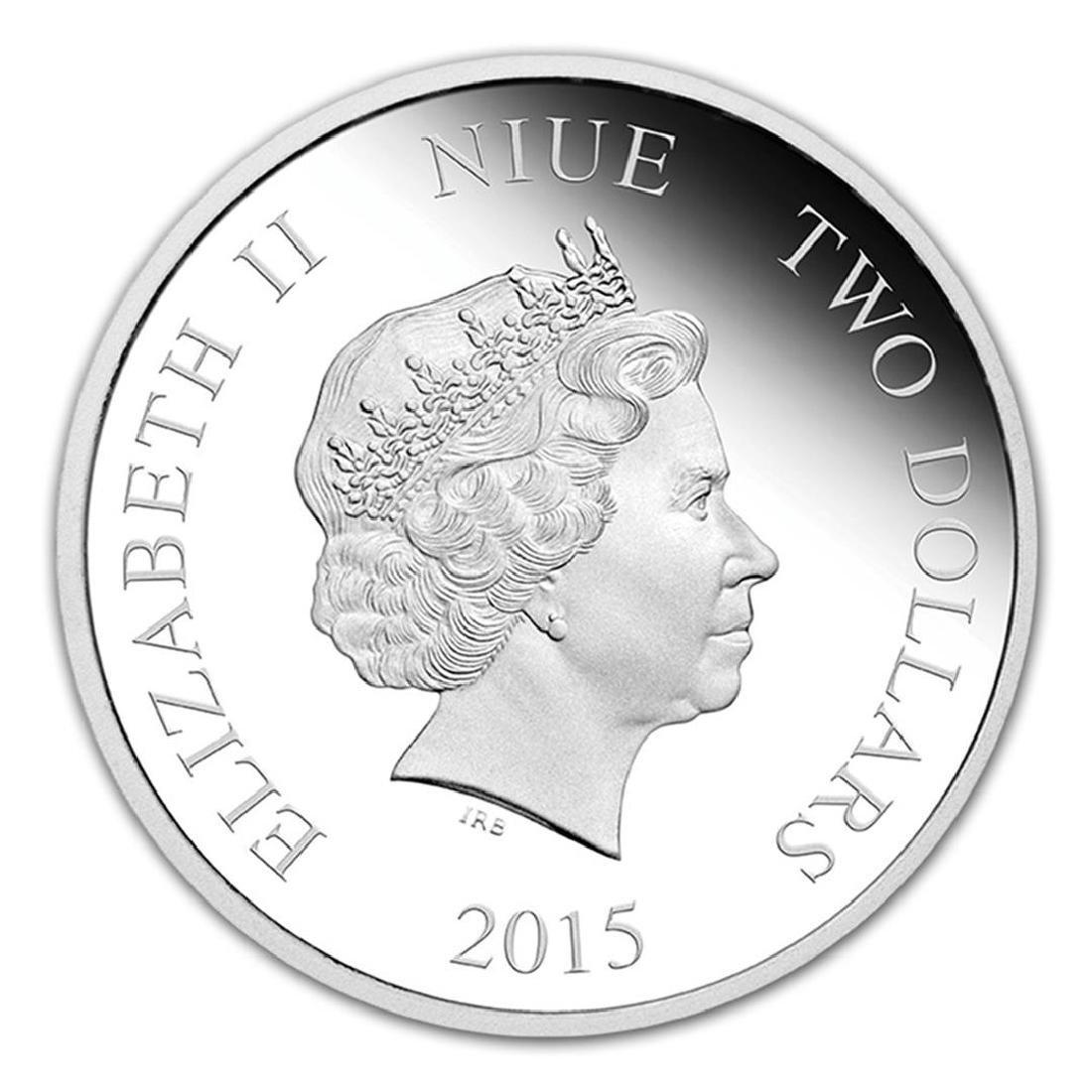2015 $2 Disney Princess Belle .999 Fine Silver Proof - 2