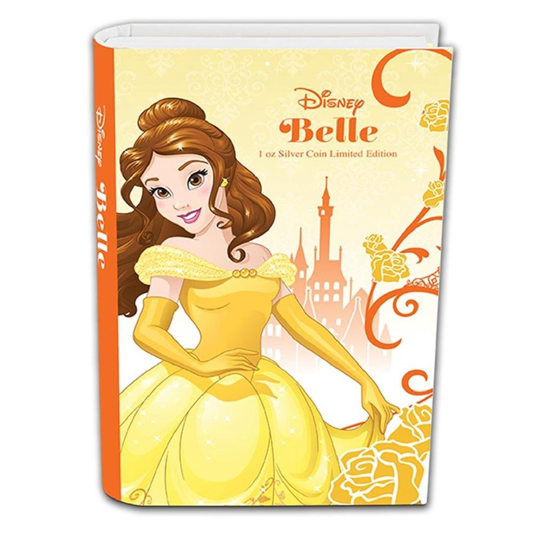 2015 $2 Disney Princess Belle .999 Fine Silver Proof - 3