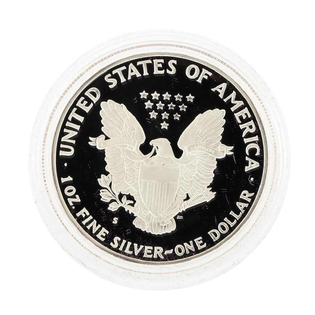 1986 1oz American Silver Eagle Proof Coin with Box - 2