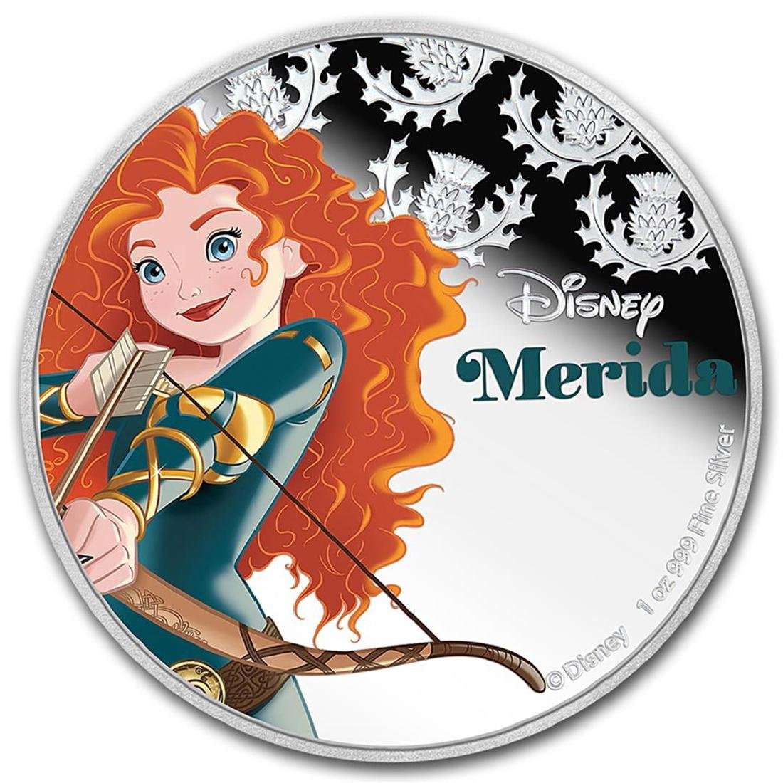 2016 $2 Disney Princess Merida .999 Fine Silver Proof