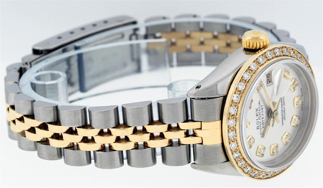 Rolex Ladies Two Tone 14KT Yellow Gold 0.70ctw Diamond - 2