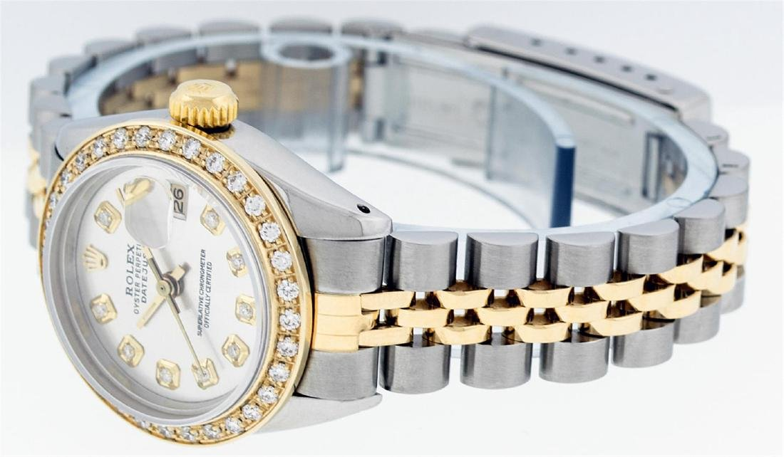 Rolex Ladies Two Tone 14KT Yellow Gold 0.70ctw Diamond - 8